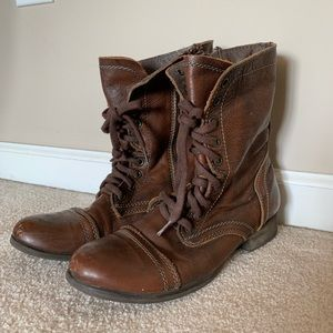 Steve Madden Brown Combat Ankle Boots Size 9.5